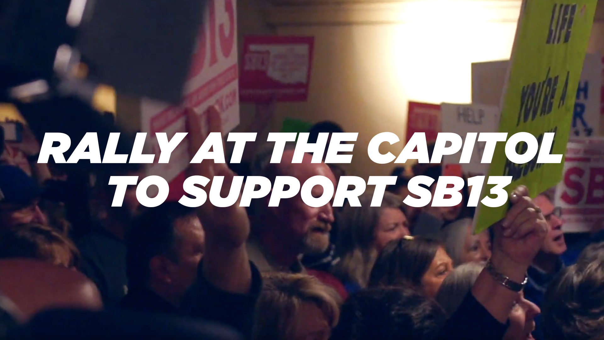 Rally at the Capitol to Support SB13