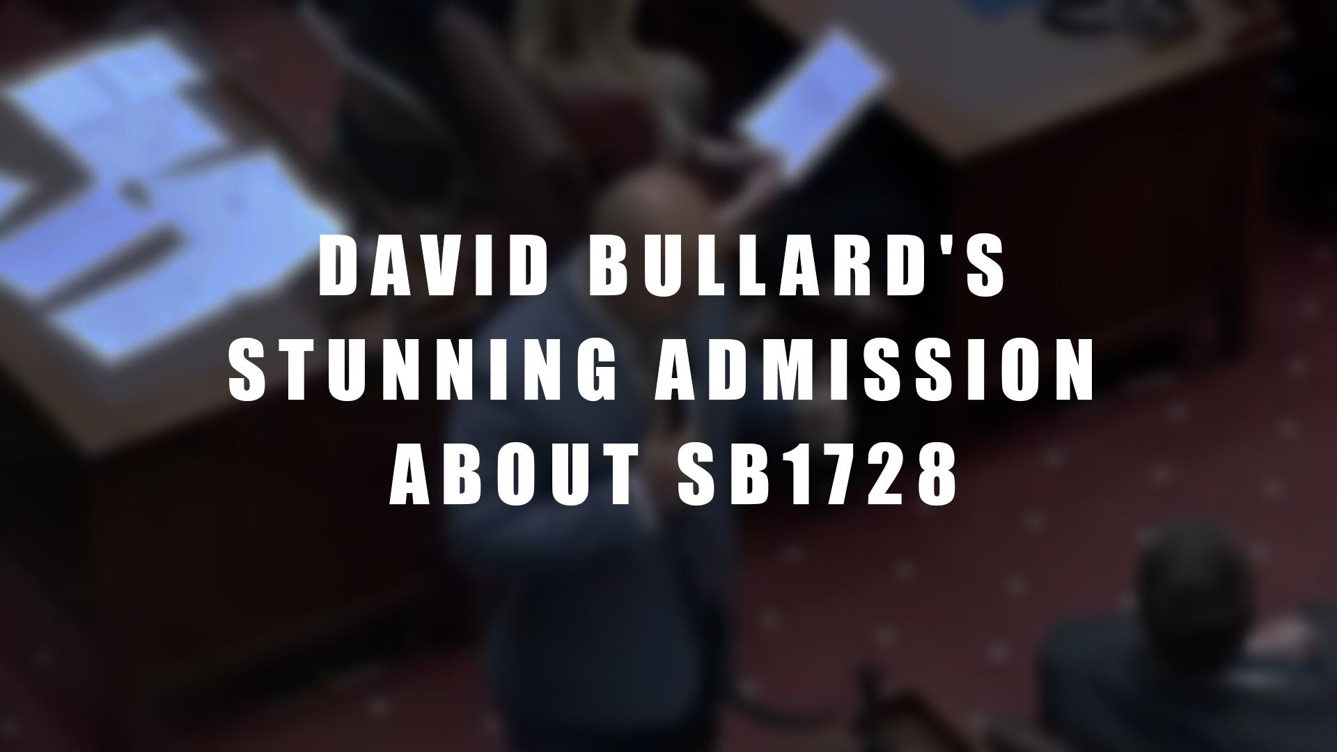 Bullard's Stunning Admission About SB1728